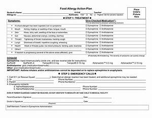 allergy action plan template - printable food allergy journal template trials ireland