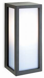 Exterior box wall light with opal diffuser for Exterior light boxes