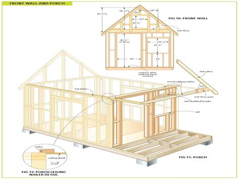 wood cabin plans free cabin floor plans free bunkie plans