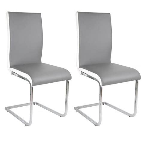 chaise simili cuir gris davaus chaise cuisine cuir gris avec des idées