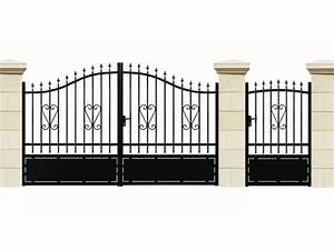 Portail De Jardin : portail en fer bahamas portillon 37865 ~ Melissatoandfro.com Idées de Décoration