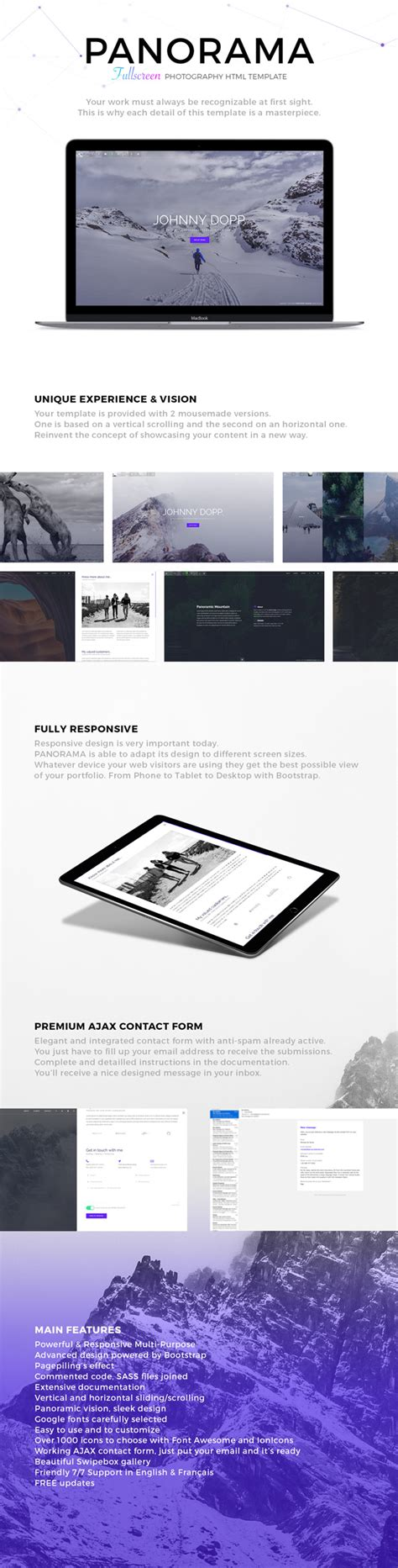 themeforest photography templates panorama fullscreen photography html template by