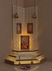 best pooja room design by interior designer kamlesh With interior decoration pooja room