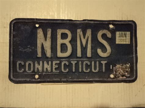 Dmv Ct Vanity Plates by 1991 Connecticut Vanity License Plate Nbms Ct Ebay