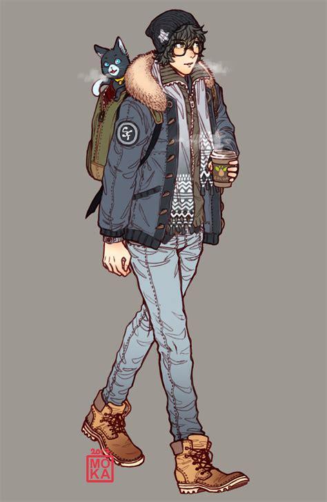 GARDEN OF TALES | PERSONA 5 Fanart Casual Winter Akira Kurusu