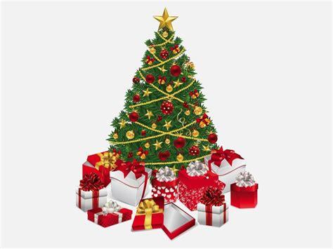 193 rbol de navidad con muchos regalos descargar vectores
