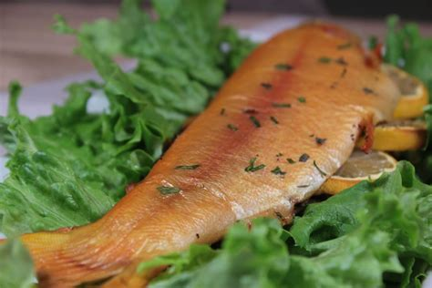 smoked trout smoked trout golden with lemon and herbs smoking meat newsletter
