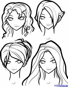 Draw Hair For Girls, Step by Step, Drawing Sheets, Added ...