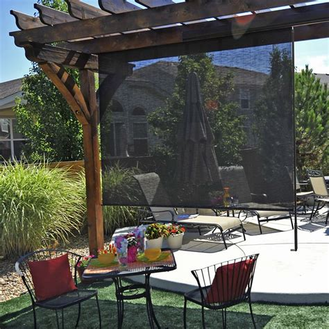 divide your outdoor lounging and dining areas with a solar