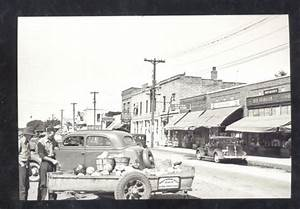 Real Photo Rice Minnesota Downtown Street Scene Old Cars