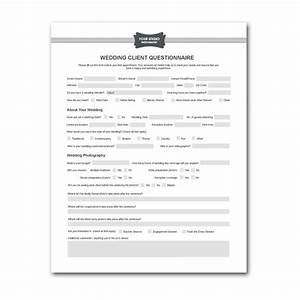 Printable sample wedding photography contract template for Wedding photography questionnaire template