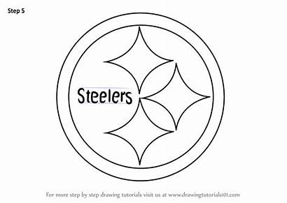 Steelers Pittsburgh Draw Drawing Step Nfl Coloring