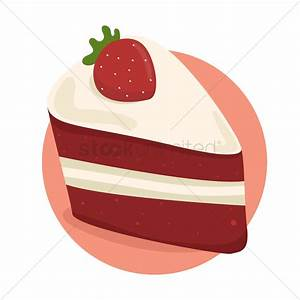 Strawberry cake slice Vector Image - 1524234 | StockUnlimited