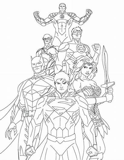 Justice League Coloring Pages Draw Colouring Drawing