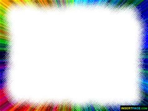 Colorful Border Photo Frame. Insert Photos