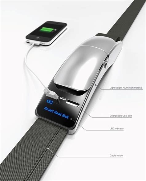 seatbelt  usb chargers built  perfect  public