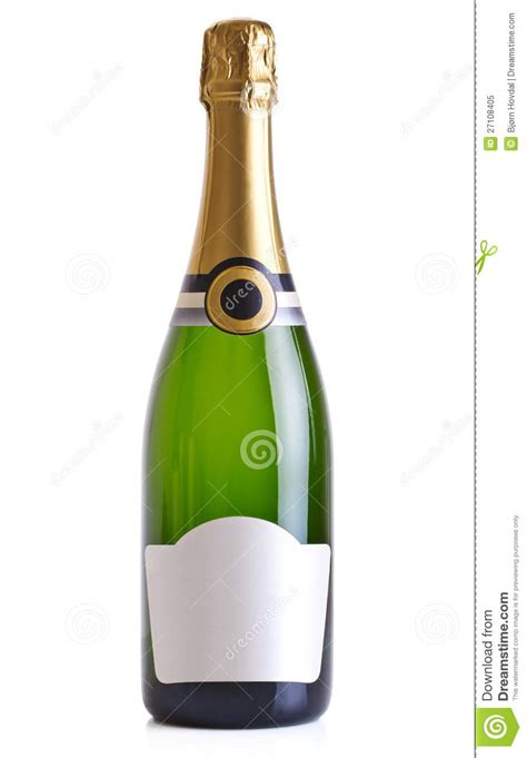 Champagne Bottle Cut Out Template