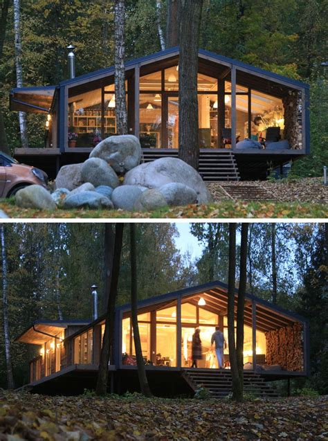 House In The Forest by This Rustic Modern House In The Forest Was Designed For A