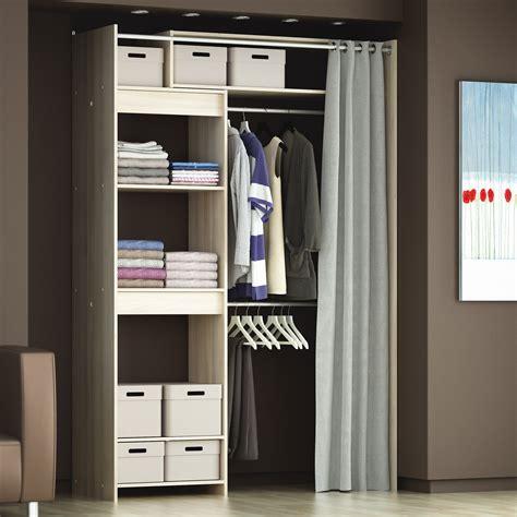 dressing extensible en bois avec rideau l112 2 cm odeon