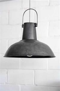 Large vintage ceiling lamp shades burnished metal