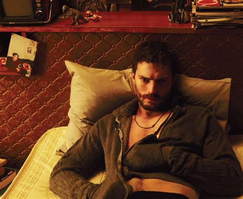 jamie dornan covers interview magazine poses  gritty