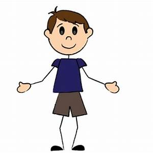 Welcome Clipart Image - Stick figure boy welcoming you ...