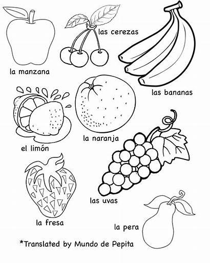 Spanish Worksheet Fruits Vegetables Worksheets English Vocabulary