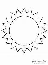 Sun Coloring Printables Blank Printable Crafts Printcolorfun sketch template