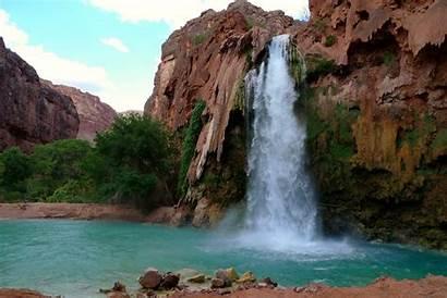 Falls Havasu Arizona Usa Canyon Grand Havasupai