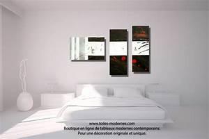 Tableau Moderne Noir Et Blanc : tableau dessin graphique noir blanc triptyque abstrait panoramique d co minimaliste ~ Teatrodelosmanantiales.com Idées de Décoration