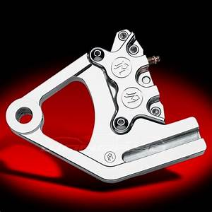 4 Piston Rear Brake Caliper Kit Chrome 87