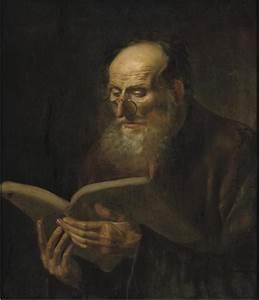 File:Dirk van hoogstraten - bearded man reading.JPG ...