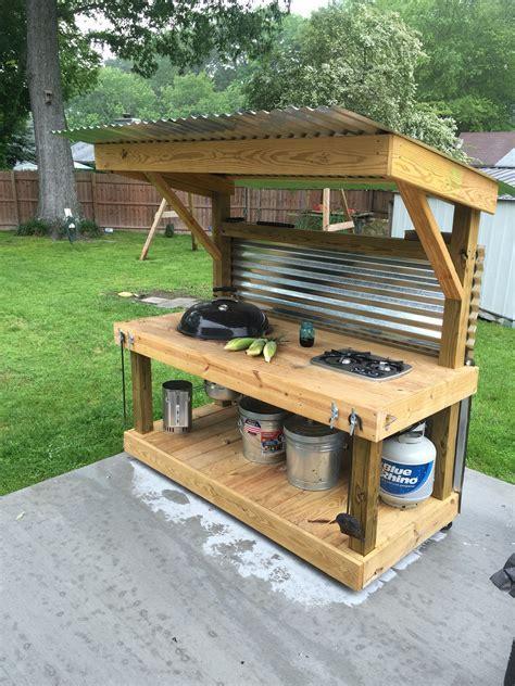 Weber Kettle Homemade Cart/Table   The BBQ BRETHREN FORUMS