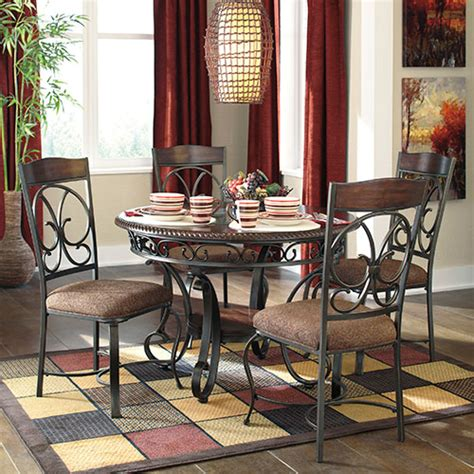 rent   ashley glambrey  piece dining set