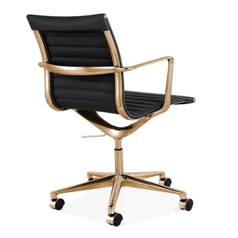 rose gold desk chair black and gold office chair chairs seating