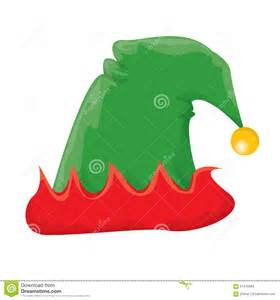 Cartoon Christmas Elf Hat Illustration