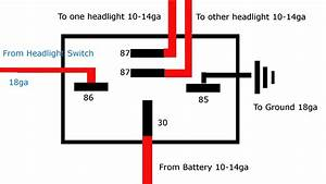 Wiring Diagram For Relay For Spotlights  U2013 Volovets Info