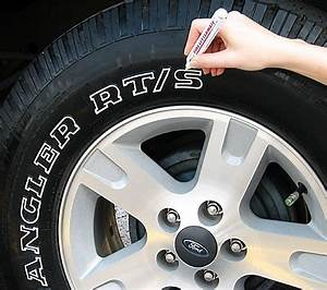 Tire white letter pen for How to blackout white letter tires