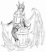 Succubus Bard Coloring Saij Drawings Deviantart Fantasy Designlooter sketch template