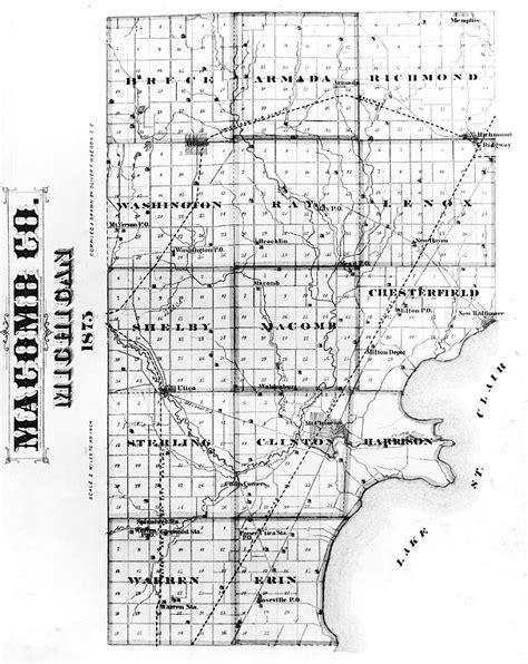 map of macomb county michigan michigan map