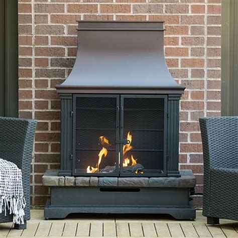 outdoor propane fireplace ember fairfield propane fireplace at hayneedle