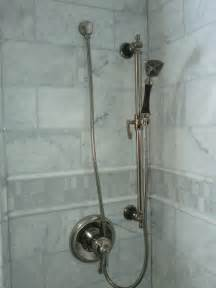 Marble Tile Bathroom with Shower