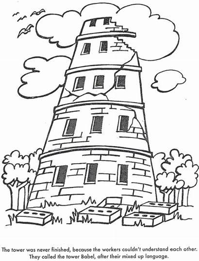 Babel Tower Menara Bible Gambar Coloring Minggu