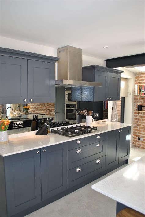 modern shaker kitchen  dark slate blue  stunning
