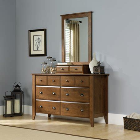 shoal creek  drawer dresser  mirror oiled oak