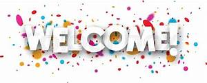 Welcome paper banner with color drops Vector illustration