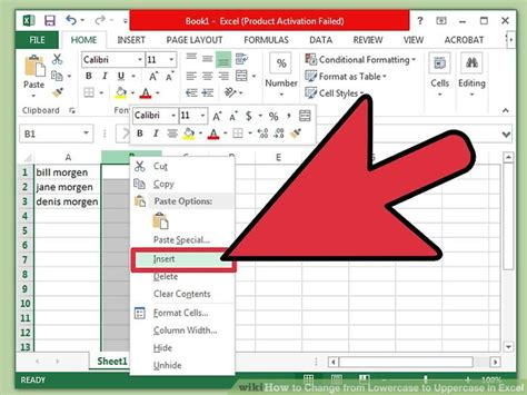 Letter Exle by 4 Ways To Change From Lowercase To Uppercase In Excel