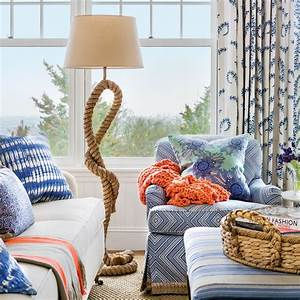 Blue and White Beach House Decorating