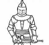 Knight Mace Coloring Colorear Coloringcrew sketch template