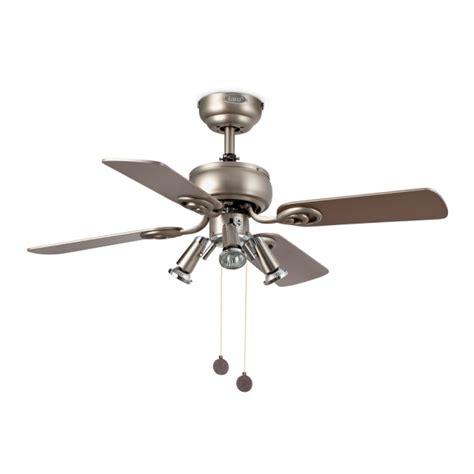 ceiling fan in gray cava with three 50w halogen